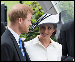 June 19, 2018 - Ascot, United Kingdom - The Duke and Duchess of Sussex   on the opening day of Royal Ascot, United Kingdom. (Credit Image: © Stephen Lock/i-Images via ZUMA Press)