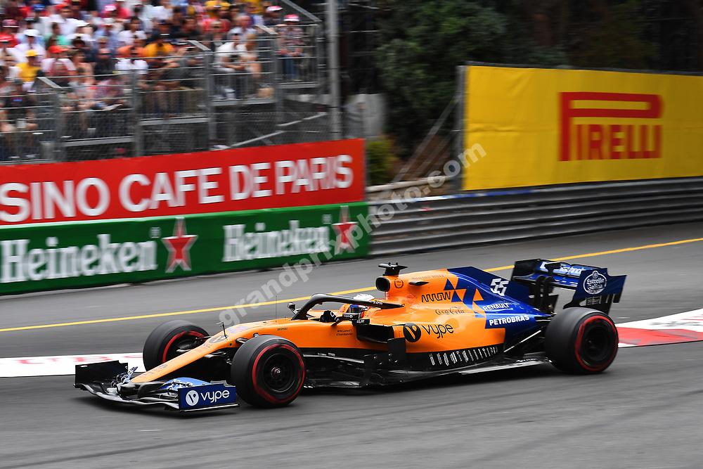 Carlos Sainz (McLaren-Renault) during the 2019 Monaco Grand Prix. Photo: Grand Prix Photo