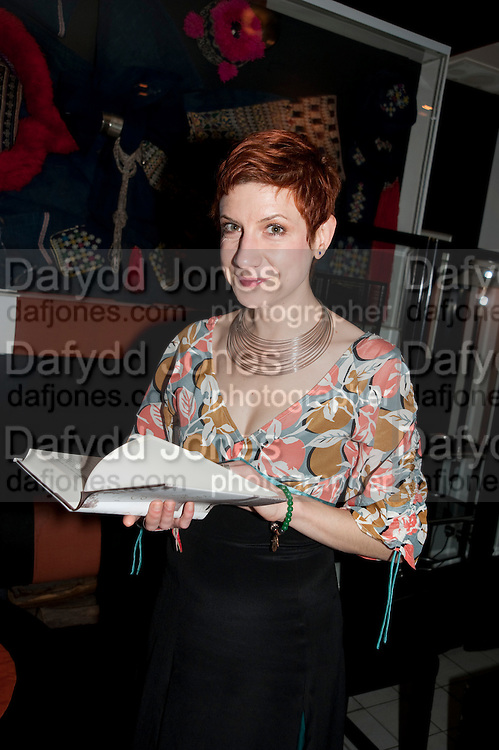 SASHA DJURKOVIC, Book party for Janine di Giovanni's Ghosts by Daylight. Blake's Hotel. South Kensington. London. 12 July 2011. <br /> <br />  , -DO NOT ARCHIVE-© Copyright Photograph by Dafydd Jones. 248 Clapham Rd. London SW9 0PZ. Tel 0207 820 0771. www.dafjones.com.