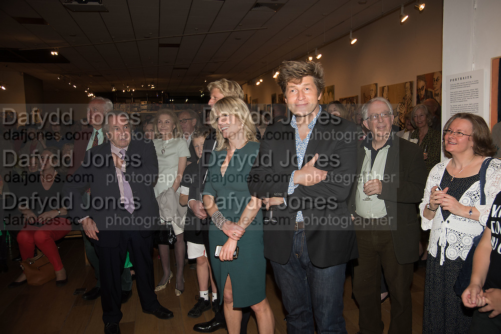 RACHEL JOHNSON; LEO JOHNSON, Exhibition opening of paintings by Charlotte Johnson Wahl. Mall Galleries. London, 7 September 2015.
