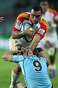 Liam Messam taken by Brendan McKibbin. Waratahs v Chiefs. 2013 Investec Super Rugby Season. Allianz Stadium, Sydney. Friday 19 April 2013. Photo: Clay Cross / photosport.co.nz