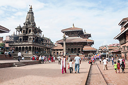 Durbar Square with tourists