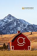 The Quarter Circle Ranch barn built in 1933 in the Wallowa Valley near Joseph, Oregon, USA