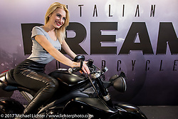 Italian Dream Motorcycle display at Motor Bike Expo. Verona, Italy. Friday January 20, 2017. Photography ©2017 Michael Lichter.
