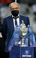 President of French Football Federation (FFF) Noel Le Graet during the trophy ceremony following the French Cup final football match between Paris Saint-Germain (PSG) and AS Saint-Etienne (ASSE) on Friday 24, 2020 at the Stade de France in Saint-Denis, near Paris, France - Photo Juan Soliz / ProSportsImages / DPPI