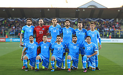 San Marino team group during the UEFA Euro 2020 Qualifying, Group I match at the San Marino Stadium, Serravalle.