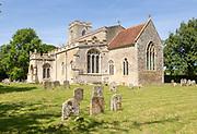 Village parish church of All Saints, Chelsworth, Suffolk, England, UK