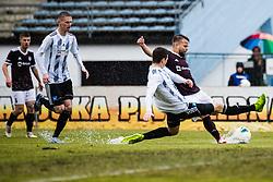 Gasper Udovic of NK Triglav  during the football match between NK Triglav Kranj and NS Mura in 23rd Round of Prva liga Telekom Slovenije 2019/20, on March 1, 2020 in Športni park Kranj, Kranj, Slovenia. Photo By Grega Valancic / Sportida