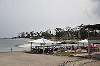 SPECIAL FIFA: Photo shows Sipop beach  in Malabo. AFP PHOTO / ISSOUF SANOGO