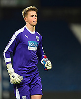 West Bromwich Albion U18's Josh Griffiths<br /> <br /> Photographer Andrew Vaughan/CameraSport<br /> <br /> FA Youth Cup Round Three - West Bromwich Albion U18 v Lincoln City U18 - Tuesday 11th December 2018 - The Hawthorns - West Bromwich<br />  <br /> World Copyright © 2018 CameraSport. All rights reserved. 43 Linden Ave. Countesthorpe. Leicester. England. LE8 5PG - Tel: +44 (0) 116 277 4147 - admin@camerasport.com - www.camerasport.com