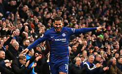 Chelsea's Eden Hazard celebrates scoring his side's third goal of the game
