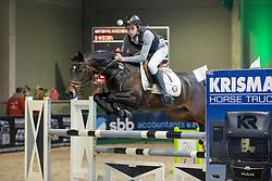 Andries Hannes, BEL, Ninja V<br /> Nationaal Indoorkampioenschap  <br /> Oud-Heverlee 2020<br /> © Hippo Foto - Dirk Caremans