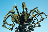 """La Machine at Minato Mirai, celebrating Yokohama's 150 years as a seaport and Japan's opening to the world.   No ideas why the French """"La Machine"""" spider was invited to participate but it's a crowd pleaser."""