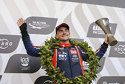 June 24, 2018 - Vila Real, Vila Real, Portugal - Norbert Michelisz from Hungary in Hyundai i30 N TCR of BRC Racing Team celebrating the third place of Race 3 of FIA WTCR 2018 World Touring Car Cup Race of Portugal, Vila Real, June 24, 2018. (Credit Image: © Dpi/NurPhoto via ZUMA Press)