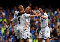 Photo: Richard Lane/Sportsbeat Images. <br />Chelsea v Birmingham. Barclay's Premiership. 12/08/2007. <br />Birmingham's Sebastian Larsson (6) celebrates a goal by Mikael Forsell (9).