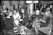 LA HOSTESS CONNIE WALD AND JOELY RICHARDSON ON RIGHT during a party hosted by Billy McCArty-Cooper for Jean Howard's Hollywood book. Los Angeles. 1989. <br /> <br /> <br /> SUPPLIED FOR ONE-TIME USE ONLY> DO NOT ARCHIVE. © Copyright Photograph by Dafydd Jones 248 Clapham Rd.  London SW90PZ Tel 020 7820 0771 www.dafjones.com