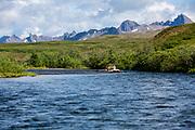 Start of 100-mile raft trip down the Kisaralik River, Alaska