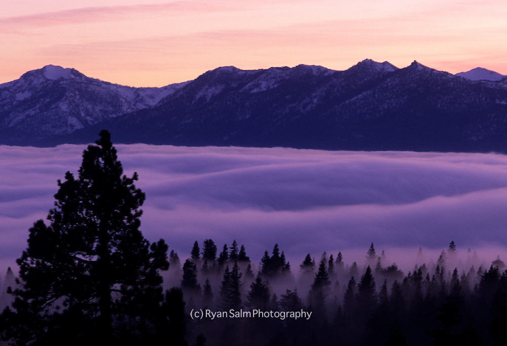 Inversion Layer over Lake Tahoe
