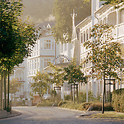Coastal hall in the town of Binz on the island of Rugen, northern Germany