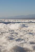 Close-up view of salt pan, Death Valley National Park, California