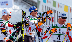 24.02.2017, Lahti, FIN, FIS Weltmeisterschaften Ski Nordisch, Lahti 2017, Nordische Kombination, Langlauf, im Bild David Pommer (AUT), Philipp Orter (AUT), Bernhard Gruber (AUT) // David Pommer of Austria Philipp Orter of Austria Bernhard Gruber of Austria during Cross Country of Nordic Combined competition of FIS Nordic Ski World Championships 2017. Lahti, Finland on 2017/02/24. EXPA Pictures © 2017, PhotoCredit: EXPA/ JFK