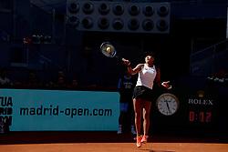 May 5, 2019 - Madrid, Spain - Naomi Osaka of Japan in her match against Dominika Cibulkova of Slovakia during day two of the Mutua Madrid Open at La Caja Magica in Madrid on 5th May, 2019. (Credit Image: © Juan Carlos Lucas/NurPhoto via ZUMA Press)