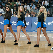 Anadolu Efes's show girls during their Turkish Airlines Euroleague Basketball Group C Game 8 match Anadolu Efes between EA7 Emporio Armani Milan at Sinan Erdem Arena in Istanbul, Turkey, Wednesday, December 07, 2011. Photo by TURKPIX