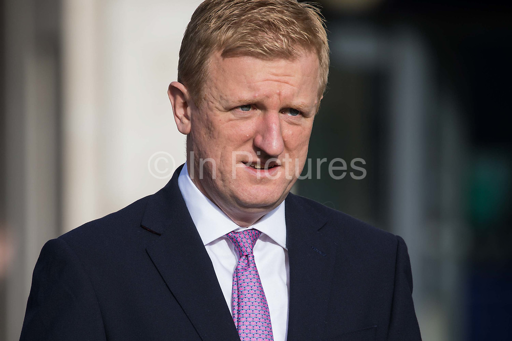 Oliver Dowden, Secretary of State for Digital, Culture, Media and Sport, is pictured walking towards Parliament on 12 November 2020 in London, United Kingdom. Oliver Dowden announced today that the UK will have an extra Bank Holiday in June 2022 to commemorate the Queen's Platinum Jubilee.