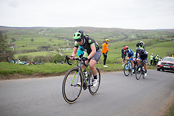 Rachele Barbieri (ITA) of Cylance Pro Cycling climbs up the Cote de Lofthouse during the Tour de Yorkshire - a 122.5 km road race, between Tadcaster and Harrogate on April 29, 2017, in Yorkshire, United Kingdom.