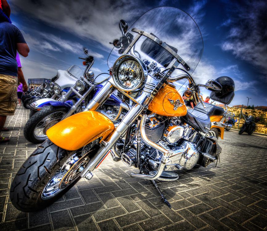 Motorbike at the motor show in Arad, Israel