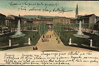 Zagreb : Zrinjski trg. <br /> <br /> ImpresumZagreb : Tiskara A. Brusina, [1904].<br /> Materijalni opis1 razglednica : svjetlotisak ; 8.9 x 13.9 cm.<br /> NakladnikTiskara A. Brusina<br /> Vrstarazglednice • vizualna građa<br /> ZbirkaGrafička zbirka NSK • Zbirka razglednica<br /> ProjektPozdrav iz Hrvatske • Pozdrav iz Zagreba<br /> Formatimage/jpeg<br /> PredmetZagreb –– Trg Nikole Šubića Zrinskog<br /> Jezikhrvatski<br /> SignaturaRZG-ZRIN-26<br /> NapomenaRazglednica je putovala 1899. godine. • Poleđina razglednice je namijenjena samo za adresu<br /> PravaJavno dobro<br /> Identifikatori000921120<br /> NBN.HRNBN: urn:nbn:hr:238:388676 <br /> <br /> Izvor: Digitalne zbirke Nacionalne i sveučilišne knjižnice u Zagrebu