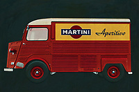 """The Citroën H Van, Citroën HY or Citroën Type H - as the original French name suggests - is a Citroën van that was produced between 1947 and 1982. With its characteristic """"corrugated plate body"""", the HY was a familiar sight in Europe. The requirements for the design of the HY were somewhat similar to those of a 2CV: front-wheel drive, low fuel consumption and good road holding. The first blueprints of this car were already on the workbench during the Second World War, but the first prototype didn't roll off the tyre until after 1945. -<br /> <br /> BUY THIS PRINT AT<br /> <br /> FINE ART AMERICA<br /> ENGLISH<br /> https://janke.pixels.com/featured/citroen-h-type-1955-jan-keteleer.html<br /> <br /> WADM / OH MY PRINTS<br /> DUTCH / FRENCH / GERMAN<br /> https://www.werkaandemuur.nl/nl/shopwerk/Citroen-H-type-1955/585044/132<br /> <br /> <br /> -"""