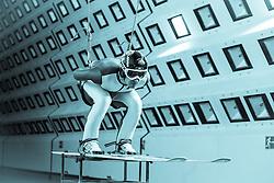 19.10.2013, Klima Wind Kanal, Wien, AUT, OESV, Nordische Kombination Skisprungtraining im Wind Kanal, im Bild Lukas Klapfer // during the Skijump training in the Climatic Wind Tunnel, Austria 20131019. EXPA Pictures © 2013, PhotoCredit: EXPA/ Sascha Trimmel