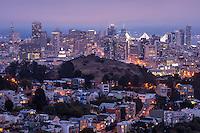 Foggy San Francisco Skyline from Tank Hill