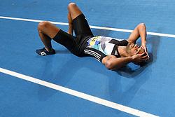 27-02-2016 NED: NK Atletiek Indoor, Apeldoorn<br /> Patrick van Luijk is te snel weg en wordt gediskwalificeerd op de 60 meter