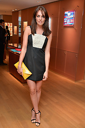 LADY VIOLET MANNERS at a party to celebrate the launch of Le Jardin de Monsieur Li by Hermes in association with Mr Fogg's was held at Hermes, 155 New Bond Street, London on 9th July 2015.