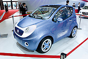 SHANGHAI, CHINA - April 20: China's Dongfeng automaker displays a concept i-car during Shanghai Motor Show on April 20, 2009 in Shanghai, China. Shanghai auto show opened Monday for the press and will be open April 24-28 for the public. China is the only major auto market still growing despite the global economic slowdown. U.S. and global auto makers see China as the place where they can find the sales they desperately lack in their home market. Chinese automakers see the opportunity to assess themselves as major players in the world market. (Photo by Lucas Schifres/Getty Images)