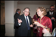 VISCOUNT STORMONT; ANDRENA WOODHAMS, The hon Alexandra Foley hosts drinks to introduce ' Lady Foley Grand Tour' with special guest Julian Fellowes. the Sloane Club. Lower Sloane st. London. 14 May 2014
