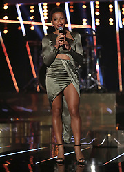Jazmin Sawyers on stage prior to the BBC Sports Personality of the Year 2018 at Birmingham Genting Arena.