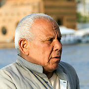 Felucca sailor on the River Nile in Cairo, Egypt.