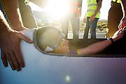 Jan-Marcel van Dijken tijdens de vijfde racedag. In Battle Mountain (Nevada) wordt ieder jaar de World Human Powered Speed Challenge gehouden. Tijdens deze wedstrijd wordt geprobeerd zo hard mogelijk te fietsen op pure menskracht. Het huidige record staat sinds 2015 op naam van de Canadees Todd Reichert die 139,45 km/h reed. De deelnemers bestaan zowel uit teams van universiteiten als uit hobbyisten. Met de gestroomlijnde fietsen willen ze laten zien wat mogelijk is met menskracht. De speciale ligfietsen kunnen gezien worden als de Formule 1 van het fietsen. De kennis die wordt opgedaan wordt ook gebruikt om duurzaam vervoer verder te ontwikkelen.<br /> <br /> In Battle Mountain (Nevada) each year the World Human Powered Speed Challenge is held. During this race they try to ride on pure manpower as hard as possible. Since 2015 the Canadian Todd Reichert is record holder with a speed of 136,45 km/h. The participants consist of both teams from universities and from hobbyists. With the sleek bikes they want to show what is possible with human power. The special recumbent bicycles can be seen as the Formula 1 of the bicycle. The knowledge gained is also used to develop sustainable transport.