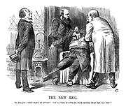 """The New Leg. Dr. Benjamin.""""Only make an effort! You'll find it ever so much better thant he old one!"""""""