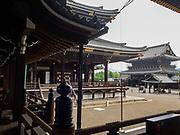 The Higashi-Honganji Temple courtyard, Kyoyo, Japan