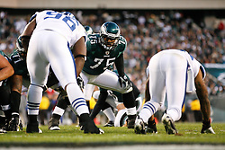 Philadelphia Eagles defensive end Juqua Parker #75 during the NFL Game between the Indianapolis Colts and the Philadelphia Eagles. The Eagles won 26-24 at Lincoln Financial Field in Philadelphia, Pennsylvania on Sunday November 7th 2010. (Photo By Brian Garfinkel)