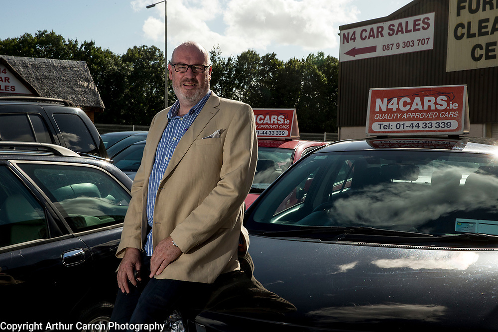 3/8/15 Terry McGovern pictured at N4 Car Sales in Palmerstown, Dublin. Picture:Arthur Carron