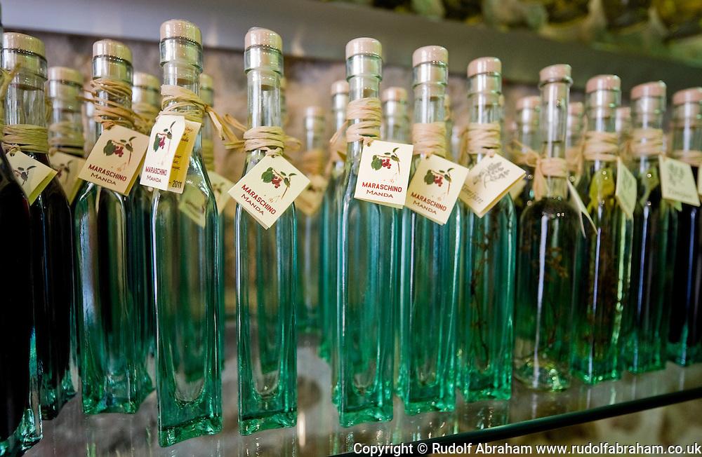 Maraschino bottles, Zadar, Croatia