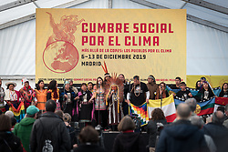7 December 2019, Madrid, Spain: Indigenous peoples mobilize at the Cumbre Social por el Clima, on the fringes of COP25 in Madrid.