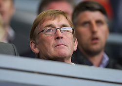 LIVERPOOL, ENGLAND - Wednesday, August 17, 2011: Liverpool's manager Kenny Dalglish watches his side take on Sporting Clube de Portugal during the first NextGen Series Group 2 match at Anfield. (Pic by David Rawcliffe/Propaganda)