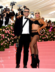 Lady Gaga and Brandon Maxwell attending the Metropolitan Museum of Art Costume Institute Benefit Gala 2019 in New York, USA.