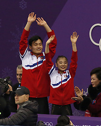 February 15, 2018 - Pyeongchang, KOREA - Tae Ok Ryom and Ju Sik Kim of North Korea compete in pairs free skating during the Pyeongchang 2018 Olympic Winter Games at Gangneung Ice Arena. (Credit Image: © David McIntyre via ZUMA Wire)